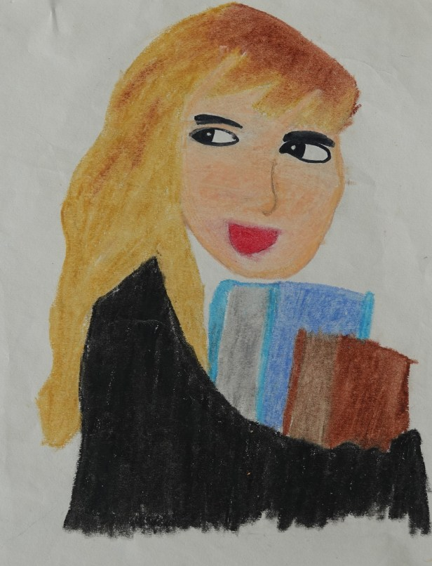 Painting inspired by Hermione Granger from Harry Potter by J K Rowlings