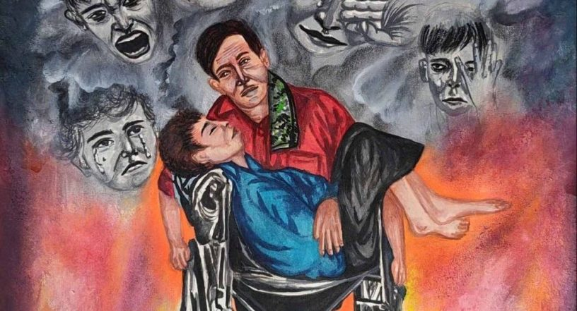 Disability painting by Naina Somani won a gold medal in Khula Aasmaan international online art competition