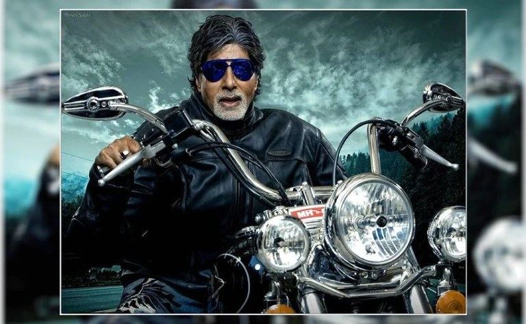 Amitabh Bachchan Looks Retro-Cool In This Throwback Pic With A Harley-Davidson