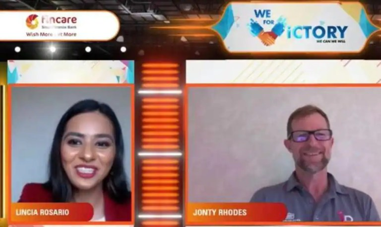 Here's all you need to know about celebrity emcee Lincia Rosario's recent virtual event with cricket legend Jonty Rhodes!