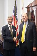 Congressman Brad Sherman meets Ambassador Dr. S. Jaishankar
