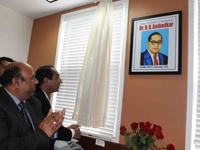 Unveiling the portrait of Dr. B.R. Ambedkar