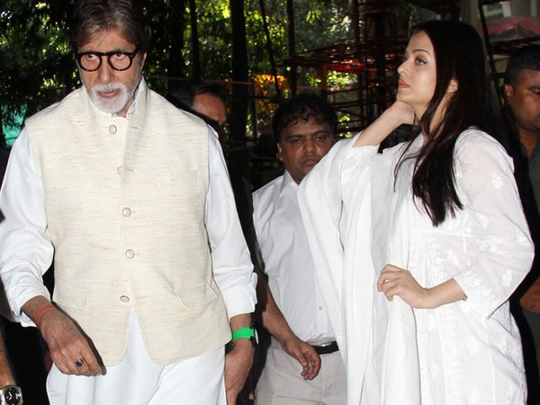 Amitabh Bachchan, Aishwarya At Prayer Meet For Music Composer Aadesh Shrivastava