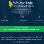 Wharton India Economic Forum – 22nd Edition in US and India