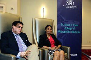 Doctors Kiran and Pallavi Patel at Nova Southeastern University