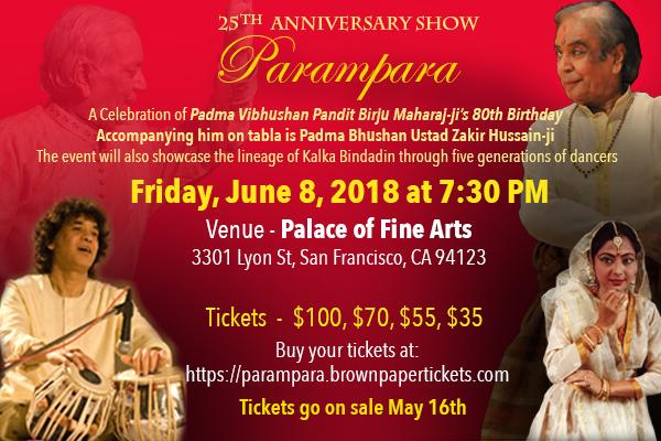 Tarangini School of Kathak Dance Presents Parampara