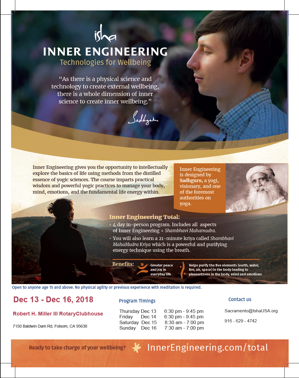 Isha Yoga Course by  Inner Engineering