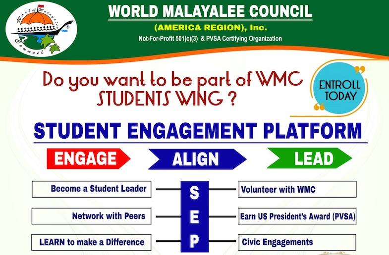 Student Engagement Program by World Malayalee Council