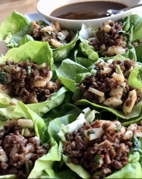 Lettuce Wraps with Peanut Sauce (Image by Author)