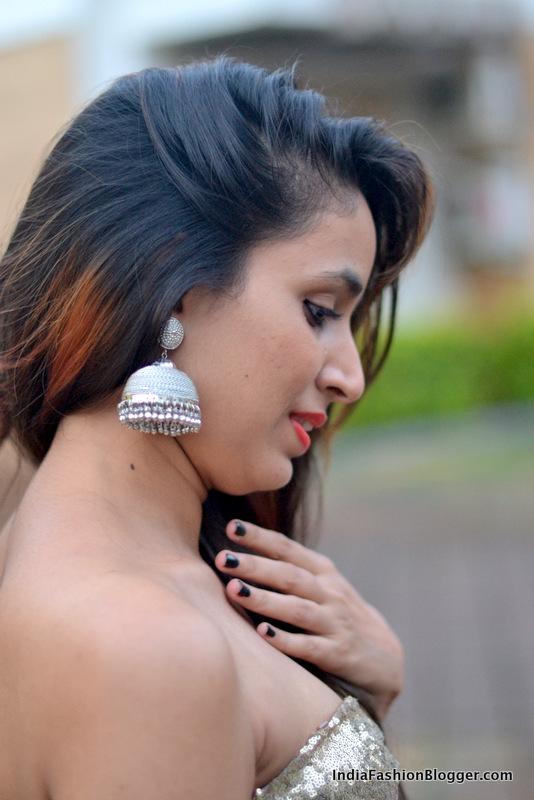 india fashion blogger jhumka