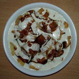 Bhalla_Papri_Chaat_with_saunth_chutney, Chaat Indian street food