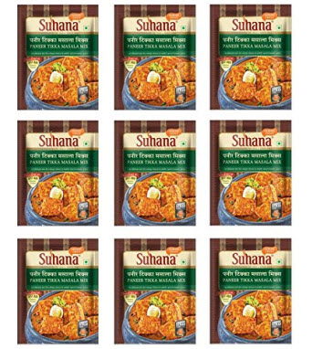 Suhana Paneer Tikka Spice Mix Pack Of 9