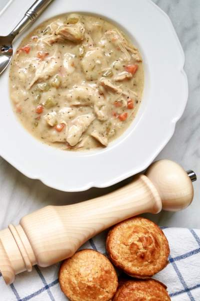 Chicken and Dumplings with Cornbread