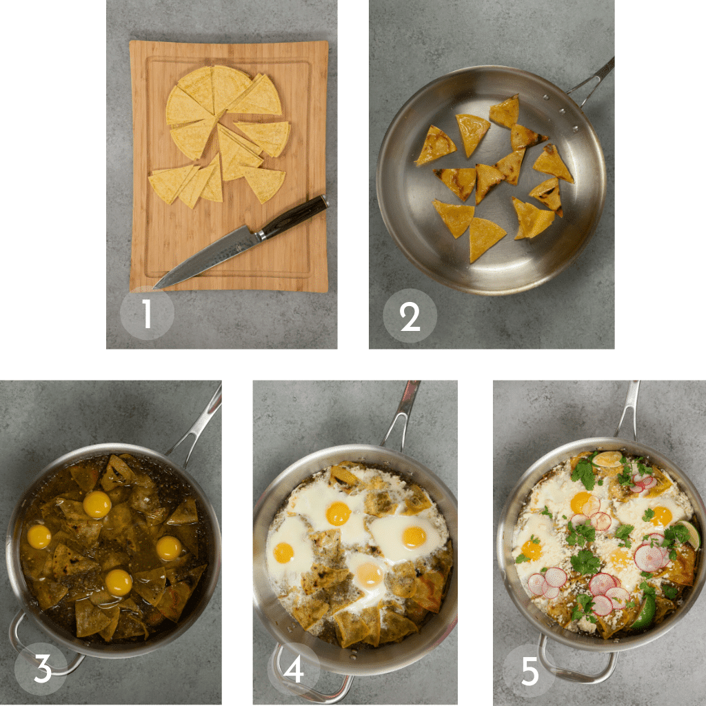 Step by Step how to make Chilaquiles