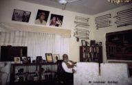 Late Syed Ghulam Mustafa Shah and his collection of walking sticks, Karachi (Sindh, Pakistan)