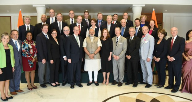 The US Congressional Delegation calls on the Prime Minister, Mr Narendra Modi, in New Delhi on February 21, 2017.(PIB Photo)