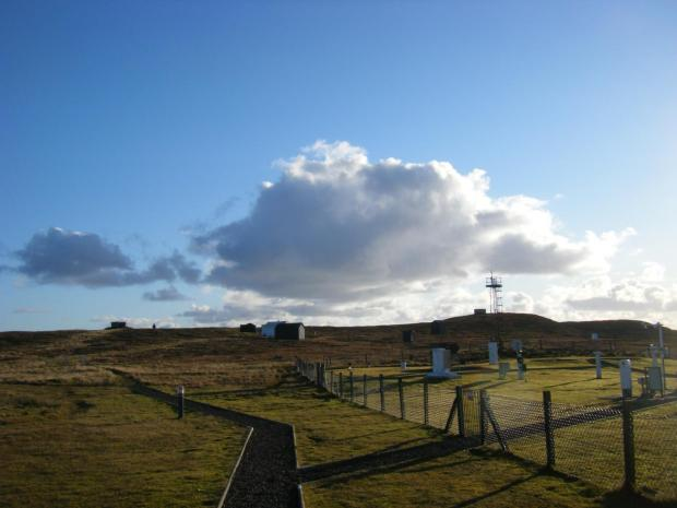 The weather observatory in Lerwick, Shetland Isles, Scotland, where the historic rainfall records were taken CREDIT Dr Keri Nicoll, University of Reading and University of Bath