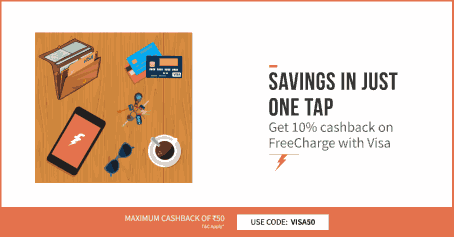 Get 10% cashback on Recharge & Bills Payment