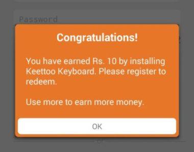 (Loot) Keettoo Keyboard App – Get Rs 10 Free Mobikwik Cash on Sign up