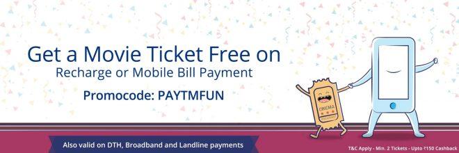 (*Loot)Paytm Movie Ticket Offer Get 100% CashBack On 2nd Ticket