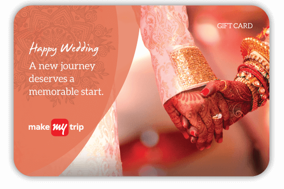 MakeMyTrip Rs 2000 Wedding Gift Card At Rs 1600 Only