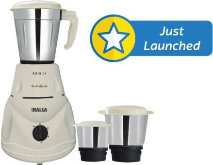 Inalsa Astra LX 550 W Mixer Grinder (White, 3 Jars) At Rs 1,549 - Flipkart