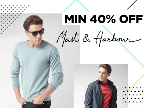 Flipkart Mast-Harbour Clothing, Footwear & Accessories 50% to 80% off from Rs 141