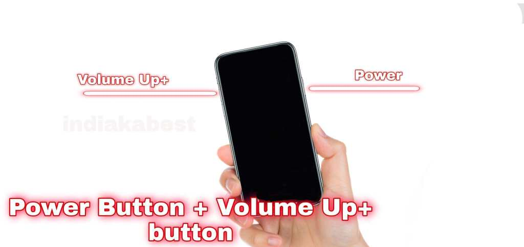 Press power and volume button