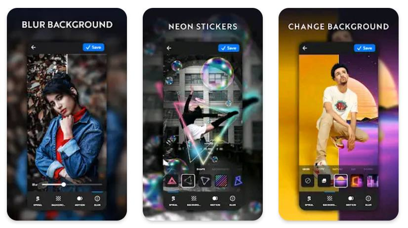 Neon Art Editing app