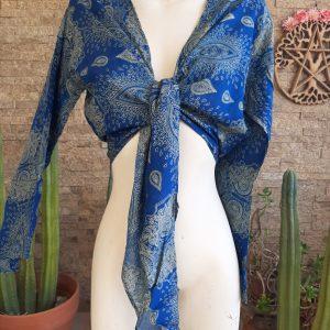 Blusa Algodón Tonos azules