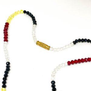 Collar Cristales Tricolor