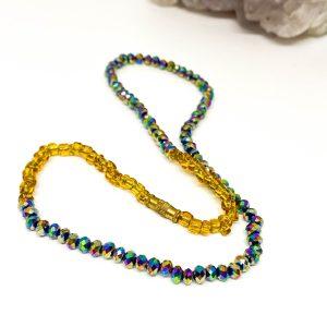 Collar Cristales Tornasol  Gold