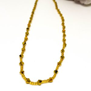 Collar Cristales Gold 2
