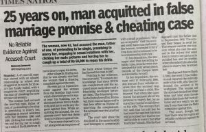 False Rape Case in a Promise to Marriage
