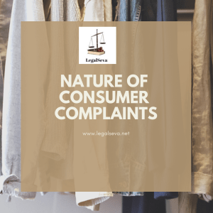 nature of consumer complaints