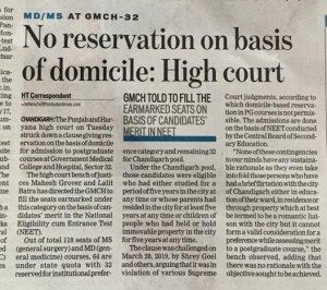 GMCH 32 case in High Court Chandigarh