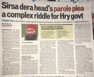 Parole in High Court Chandigarh
