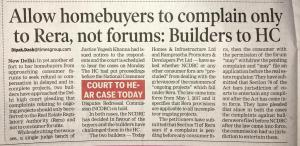 RERA COMPLAINTS TO HIGH COURT