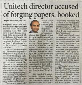 Unitech Property Fraud Matter