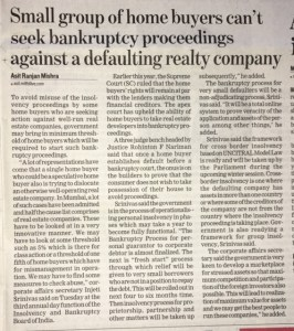 Insolvency Proceedings against Builder in NCLT Chandigarh