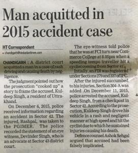Acquittal in Accident Cases