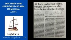 Employment Bond Chandigarh Panchkula Mohali Legal Advice