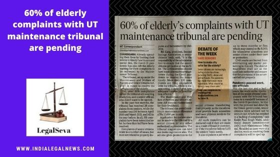 60% of elderly complaints with UT maintenance tribunal are pending