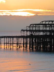 Yes, I am obsessed with the 'romance' of the West Pier and every post needs a sunset shot, right?!