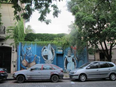 Graffiti is legal in Buenos Aires - expression abounds