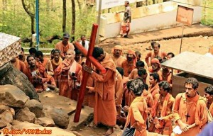On the path of Nobili: The modern day Christian Missionaries dawning the robe of Sanyasis to convert the Hindu populace. Source: https://www.facebook.com/VRindus