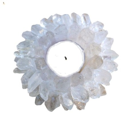 Crystal Point Tealight Candle Holder