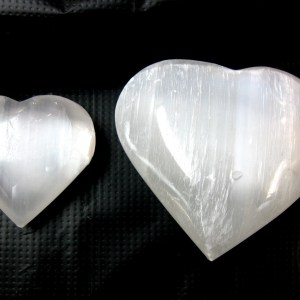 Small & Large White Selenite Hearts
