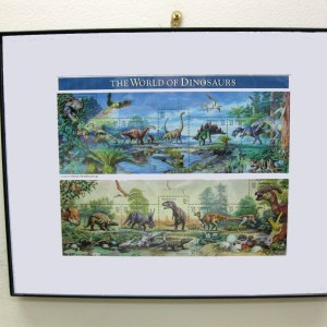 Framed Dinosaur Stamps
