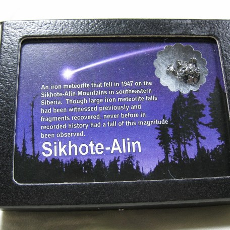 Genuine Sikhote-Alin Meteorite from Russia